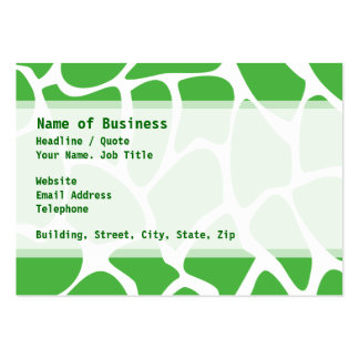 Giraffe Print Pattern in Jungle Green. Pack Of Chubby Business Cards