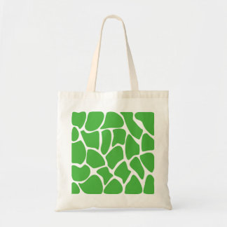 Giraffe Print Pattern in Jungle Green. Tote Bag