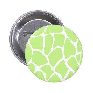 Giraffe Print Pattern in Light Lime Green. 6 Cm Round Badge