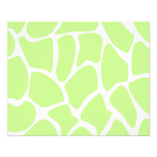 Giraffe Print Pattern in Light Lime Green. 11.5 Cm X 14 Cm Flyer