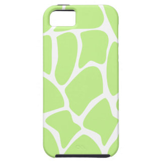 Giraffe Print Pattern in Light Lime Green. iPhone 5 Cases
