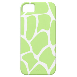 Giraffe Print Pattern in Light Lime Green. iPhone 5 Covers
