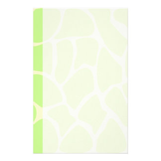 Giraffe Print Pattern in Light Lime Green. Stationery