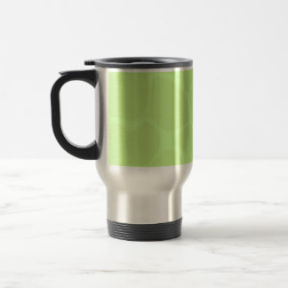 Giraffe Print Pattern in Light Lime Green. Travel Mug