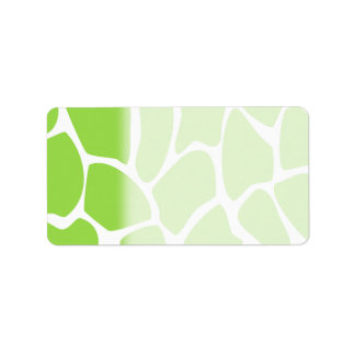 Giraffe Print Pattern in Lime Green. Address Label