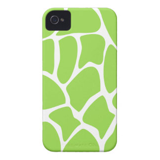 Giraffe Print Pattern in Lime Green. Case-Mate iPhone 4 Cases
