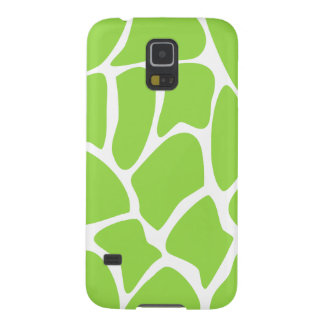 Giraffe Print Pattern in Lime Green. Galaxy S5 Case