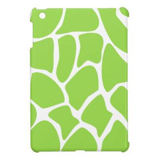 Giraffe Print Pattern in Lime Green. iPad Mini Cover