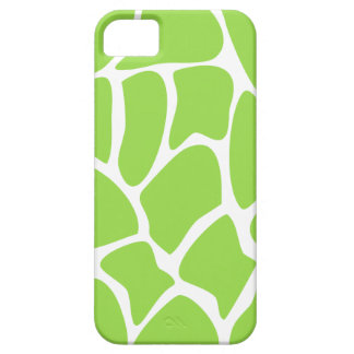 Giraffe Print Pattern in Lime Green. iPhone 5 Cases