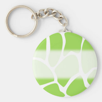 Giraffe Print Pattern in Lime Green. Key Ring