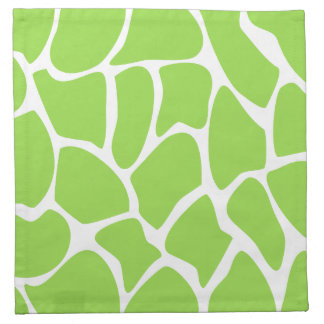 Giraffe Print Pattern in Lime Green. Napkin