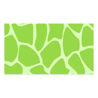 Giraffe Print Pattern in Lime Green. Pack Of Standard Business Cards