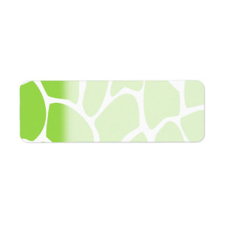 Giraffe Print Pattern in Lime Green. Return Address Label