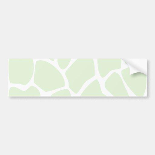 Giraffe Print Pattern in Mint Green. Bumper Sticker