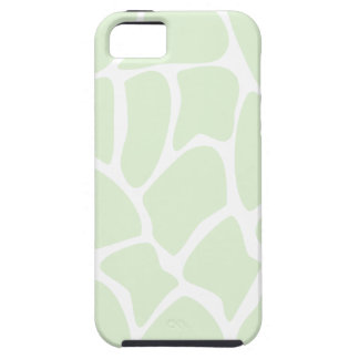 Giraffe Print Pattern in Mint Green. Case For The iPhone 5