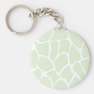 Giraffe Print Pattern in Mint Green. Key Chain