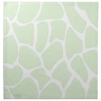 Giraffe Print Pattern in Mint Green. Napkin