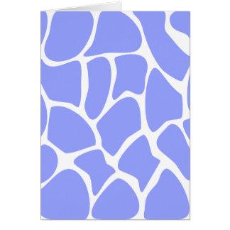 Giraffe Print Pattern in Sky Blue. Card
