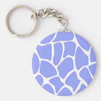 Giraffe Print Pattern in Sky Blue. Keychain