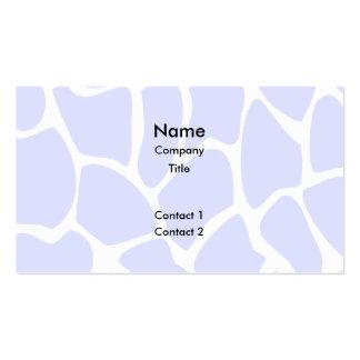 Giraffe Print Pattern in Sky Blue. Pack Of Standard Business Cards