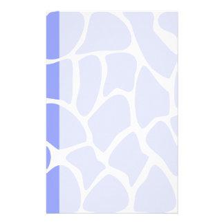 Giraffe Print Pattern in Sky Blue. Stationery