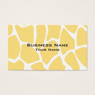 Giraffe Print Pattern in Yellow.