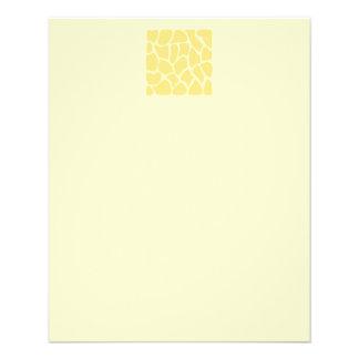 Giraffe Print Pattern in Yellow. 11.5 Cm X 14 Cm Flyer