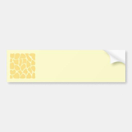 Giraffe Print Pattern in Yellow. Bumper Sticker