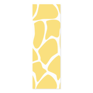 Giraffe Print Pattern in Yellow. Business Card Template