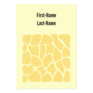 Giraffe Print Pattern in Yellow. Large Business Cards (Pack Of 100)
