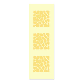 Giraffe Print Pattern in Yellow. Business Card Templates