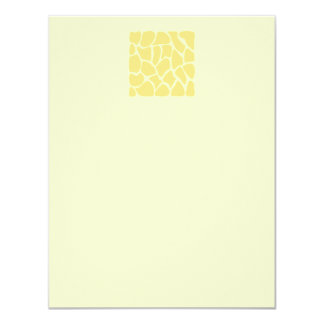 "Giraffe Print Pattern in Yellow. 4.25"" X 5.5"" Invitation Card"