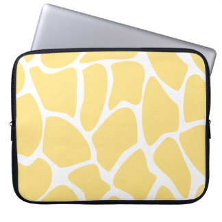 Giraffe Print Pattern in Yellow. Laptop Sleeve