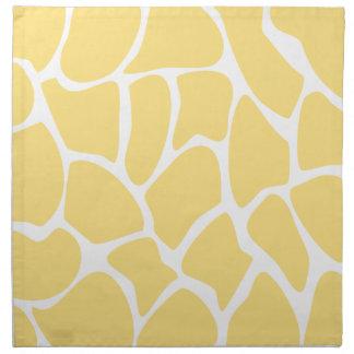 Giraffe Print Pattern in Yellow. Napkin