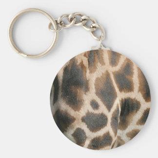 Giraffe Print Pattern Keychain