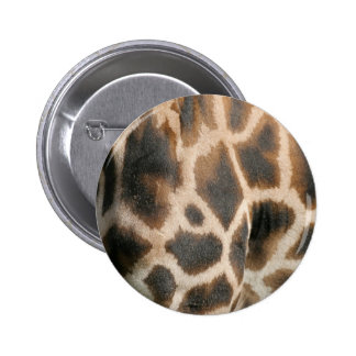 Giraffe Print Pattern Round Button