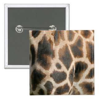 Giraffe Print Pattern Square Pin
