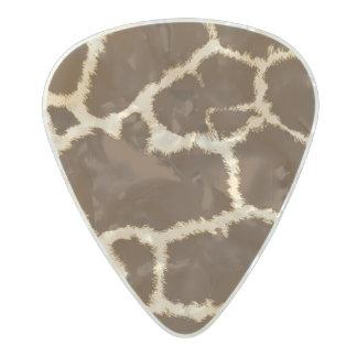 Giraffe Print Pearl Celluloid Guitar Pick