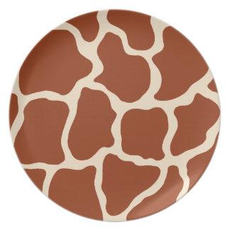 Giraffe Print Plate