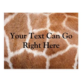 Giraffe Print Postcard