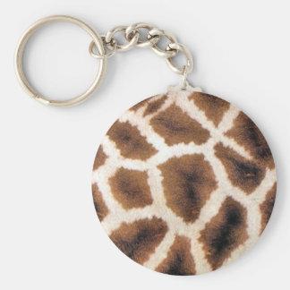 Giraffe print products key chains