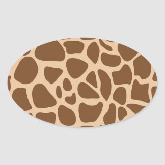 Giraffe Print Wild Animal Patterns Gifts for Her Oval Sticker