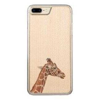 Giraffe profile carved iPhone 8 plus/7 plus case