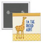 Giraffe Proud Aunt / Auntie Pin