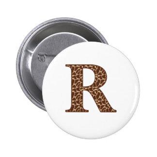 giraffe-r 6 cm round badge