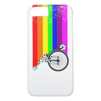 Giraffe Rainbow Bike iPhone 8/7 Case