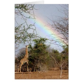 Giraffe & Rainbow Card