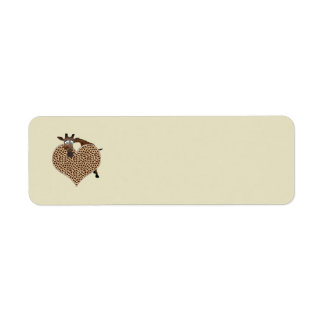 Giraffe Return Address Label