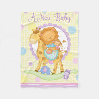 Giraffe Rocking Horse Baby Blanket