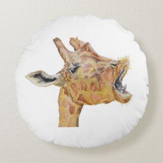 Giraffe Round Cushion